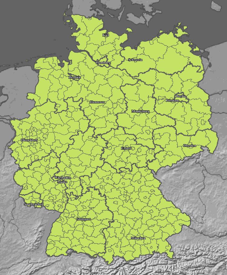 Unwetter Karte