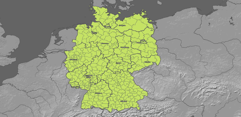 Aktuelle Schneehöhen Vorhersage für Deutschland