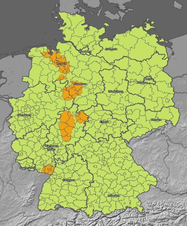 Aktuelle Gewitter Unwetter über Deutschland Live Karte